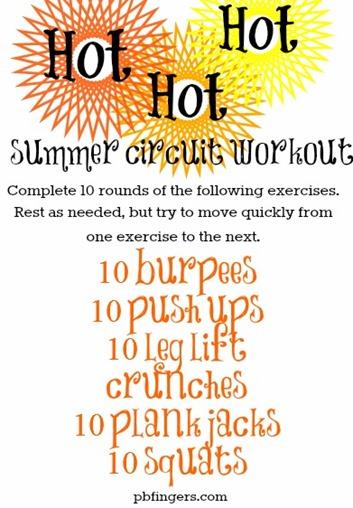 HOT HOT HOT Summer Circuit Workout