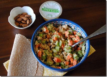 Salmon Salad Lunch