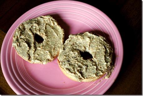 almond butter bagel