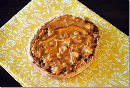 almond butter honey english muffin