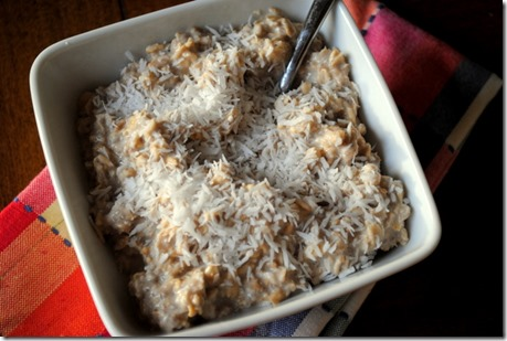 unsweetened flaked coconut oatmeal