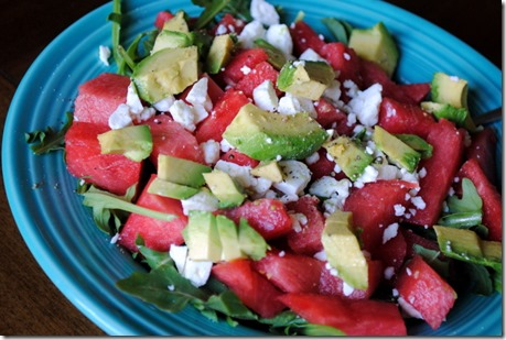 watermelon avocado feat salad