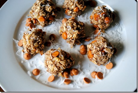 Butterscotch Coconut Oatmeal Banana Bread Bites
