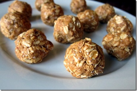 No Bake Oatmeal Almond Butter Balls