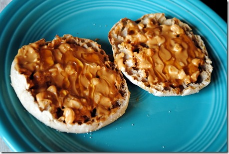 almond butter english muffin