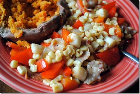 scallops corn bacon