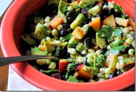 veggies nectarine avocado