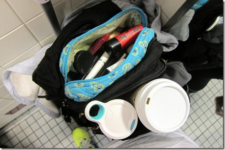 Airport Bathroom Makeup