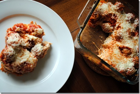 Light Meatball Casserole