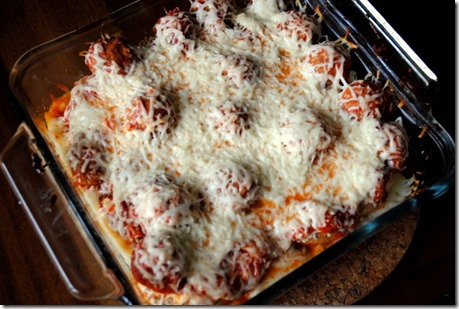 Lightened Up Meatball Casserole