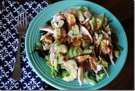 chicken avocado ginger salad