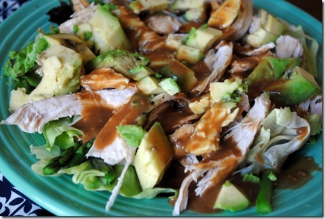 chicken salad with ginger and avocado
