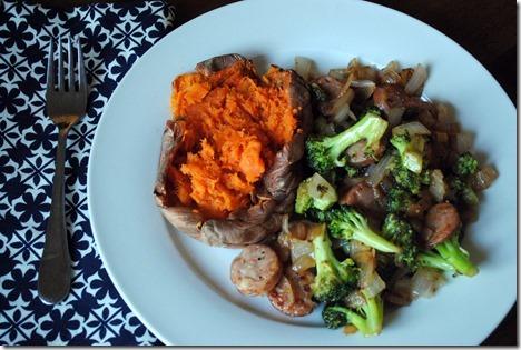 chicken sausage sweet potato