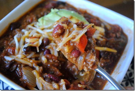 Chili with Roasted Red Peppers