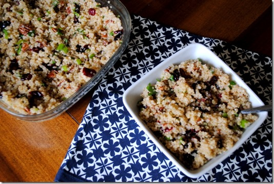 Quinoa Salad with Pecans and Cranberries