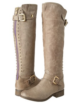 Steve Madden gray back zipper boots lynet