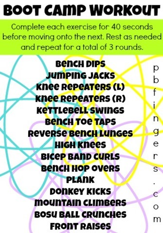 Boot Camp Fitness Exercises Collection of Boot Camp Workouts - Peanut Butter Fingers