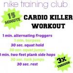 15 Minute Cardio Killer Workout