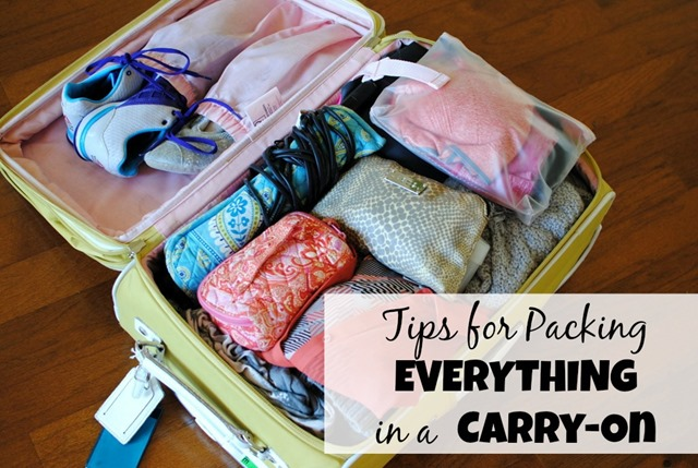 Tips for packing everything in a carry on suitcase How to pack a carry on suitcase video