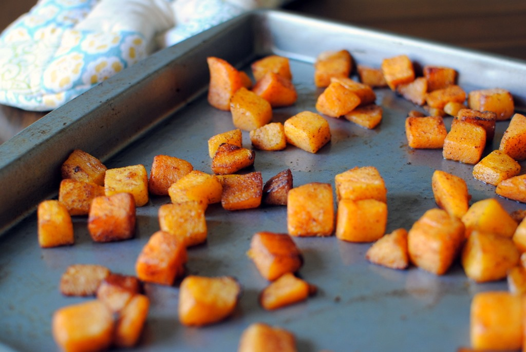 Celebration in the form of simple cinnamon roasted butternut squash?