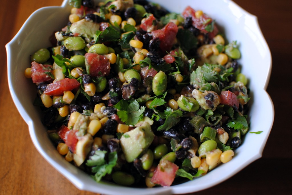 Edamame Black Bean Salad - Comes together in less than 10 minutes!
