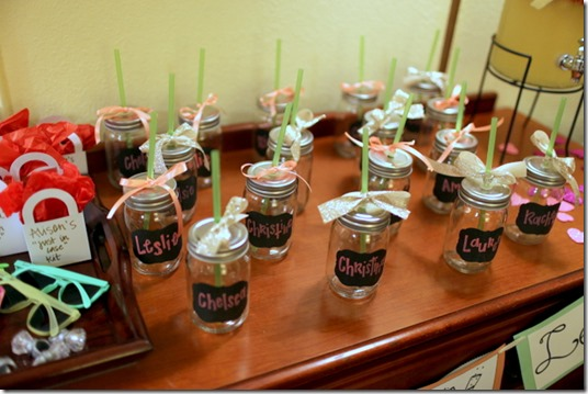 Mason Jars For A Bachelorette Party
