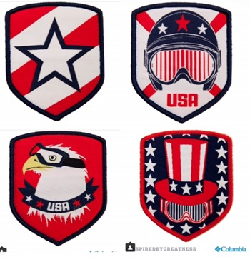Olympic Team Patches
