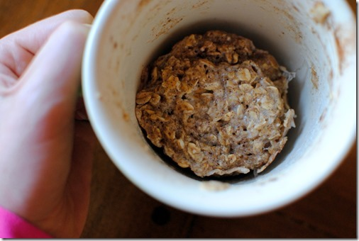 oatmeal mug cake