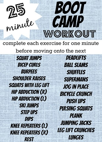 boot camp exercise ideas pdf