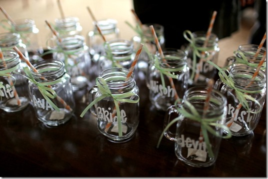 Bridal Shower Mason Jar Glasses