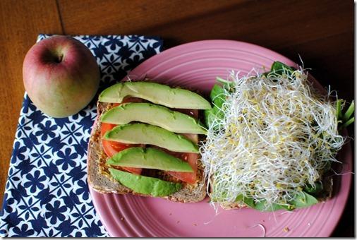 Ezekiel Veggie Sandwich