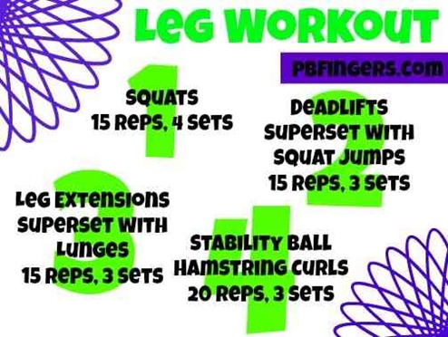 24235df1840f Collection of Leg Workouts - Peanut Butter Fingers