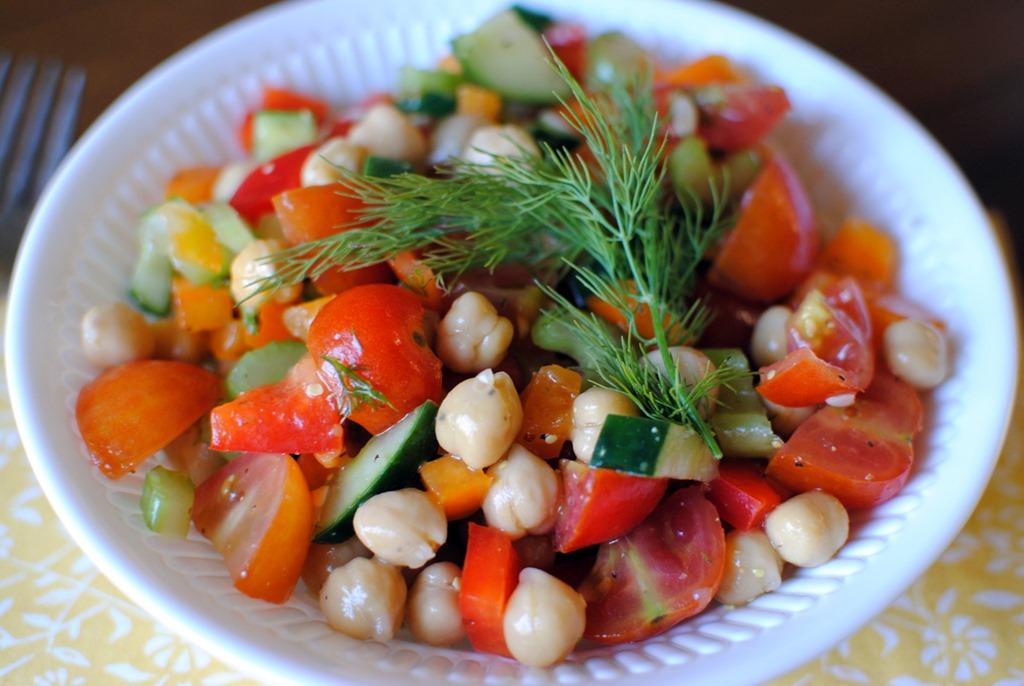 Chickpea Salad - Peanut Butter Fingers