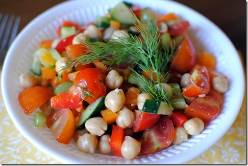 Fresh Chickpea Salad