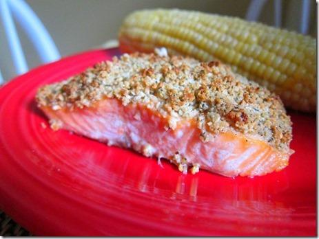 cashew crusted salmon