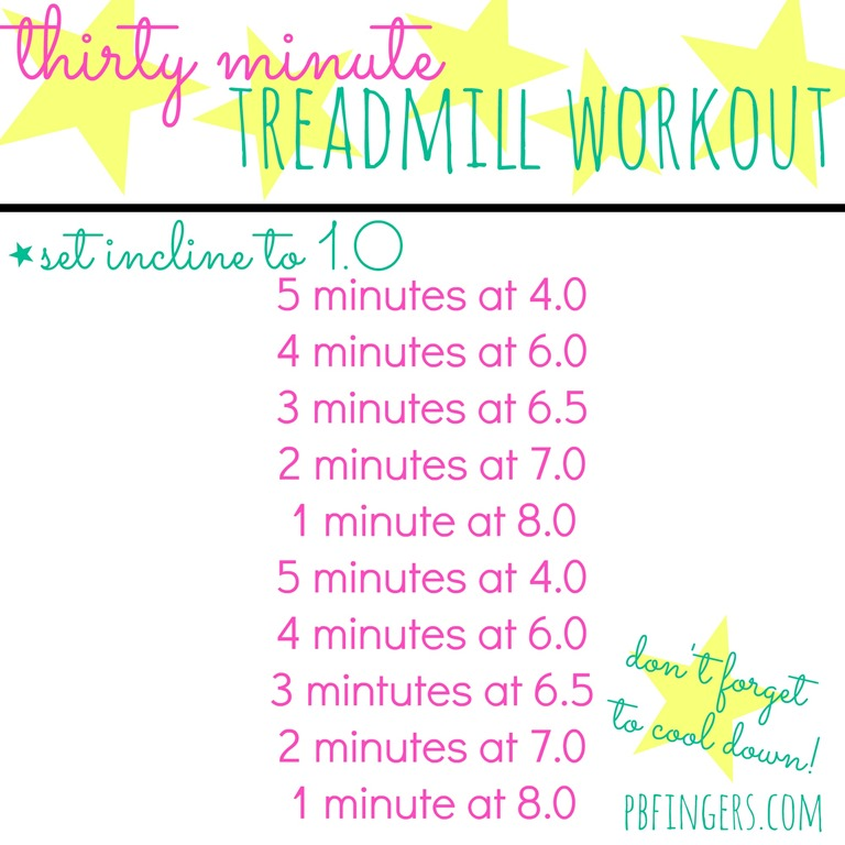 30 Minute Treadmill Workout - Peanut Butter Fingers