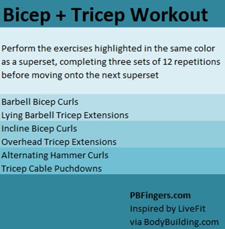 Bicep and Tricep Workout