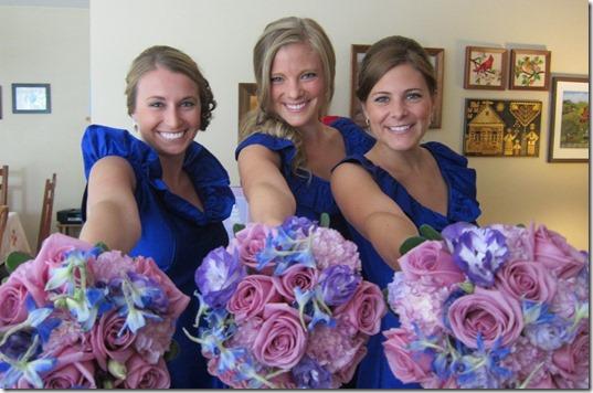 Cobalt Blue Bridesmaids Dress