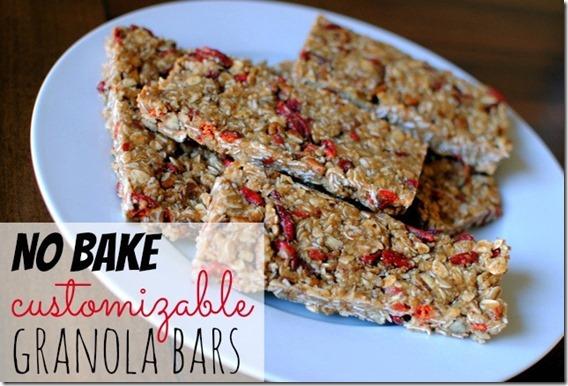 No Bake Customizable Granola Bars