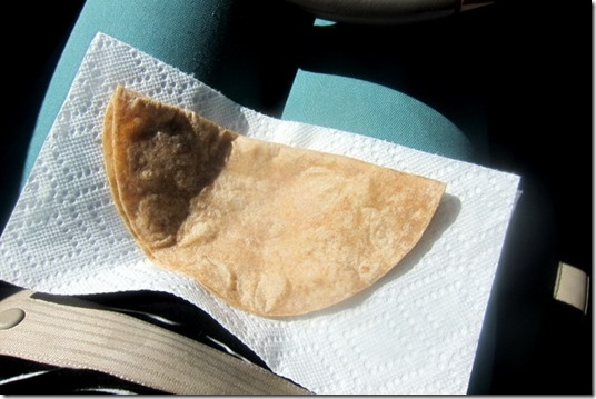 Tortilla with Babybel cheese
