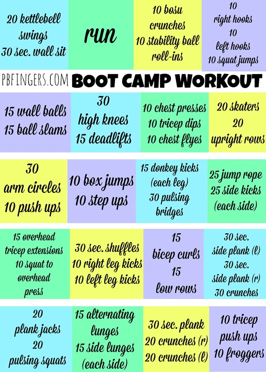 60 Minute Boot Camp Workout - Peanut Butter Fingers