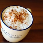 Coffee with cinnamon and foam