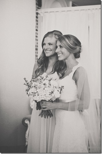 Maid of Honor and Bride