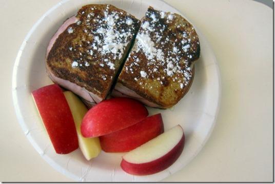 french toast ham sandwich