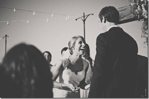 handing bride tissues
