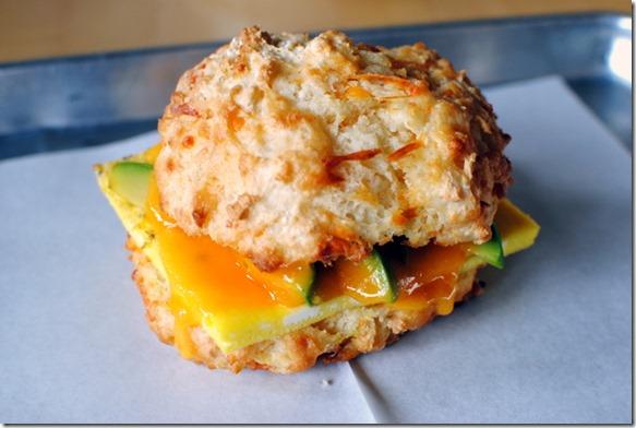 Cheese Biscuit Sandwich Sunflower Bakery