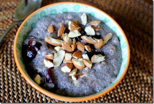 Cherry Almond Chia Seed Pudding Recipe