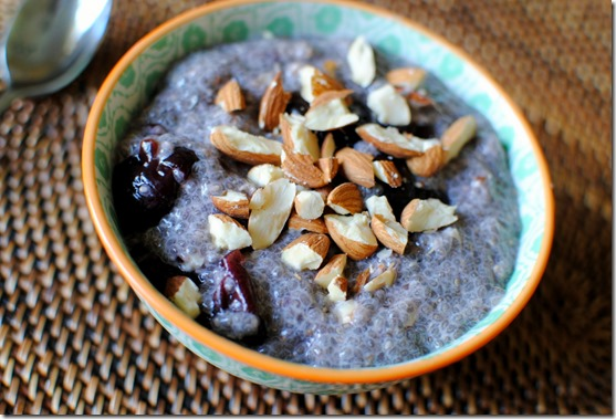Cherry Almond Chia Seed Pudding