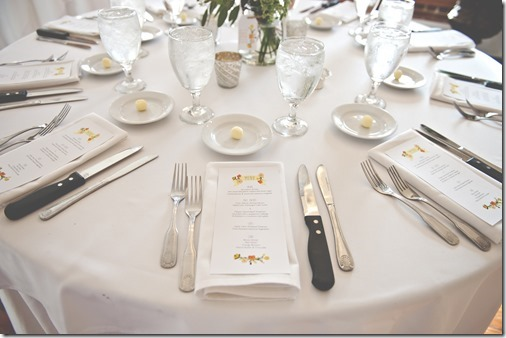 Dinner Table at Wedding