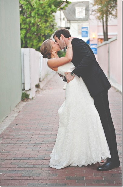Groom and BRide Kiss